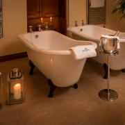 Suite 5 baths at dusk