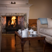 Suite 2 Tea in front of fire