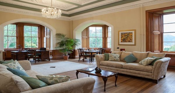 The grand sitting room of Suite Two
