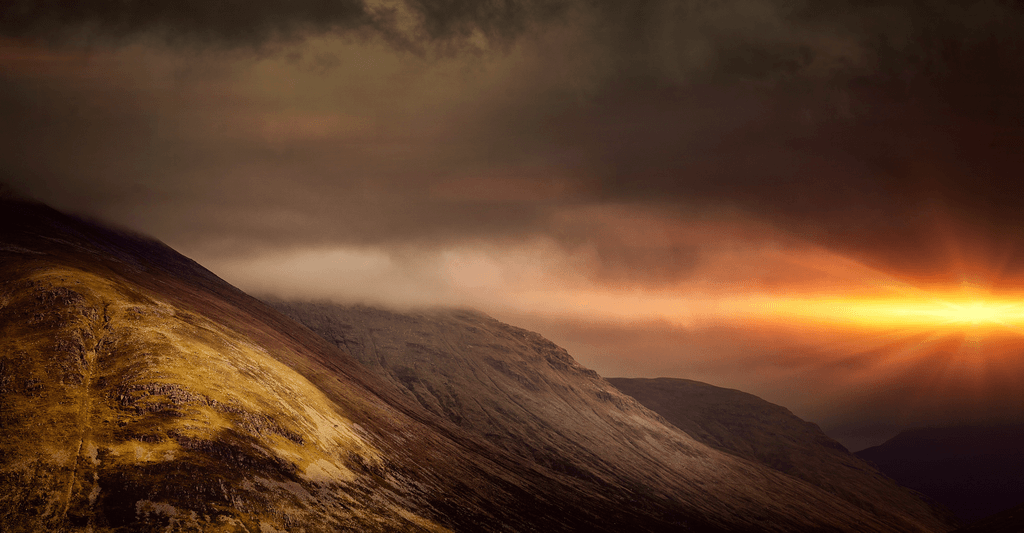 Photography of a sunset around Glencoe